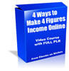 Thumbnail 4 Ways to Make 4 Figures - with FULL PLR + 2 BONUSES!
