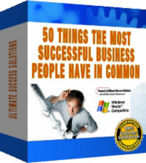 Product picture 50 Things Most Successful Business People Have! (with PLR)