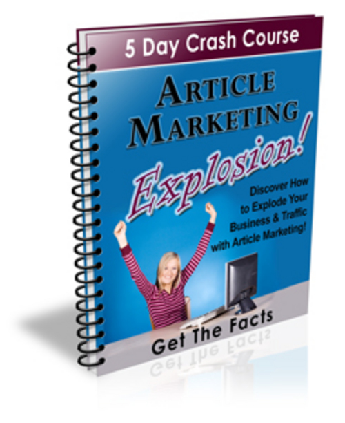 Product picture Article Marketing Explosion Crash Course - with PLR + BONUS!