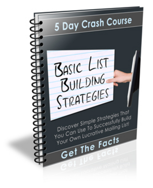 Product picture Basic List Building Strategies Course - with PLR + BONUS!