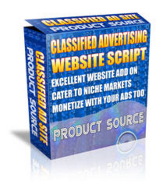 Product picture Classified Ad Site Script - Master Resell Rights + BONUS!