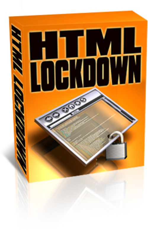 Product picture HTML LockDown Webpage Protector Software - with PLR + BONUS!