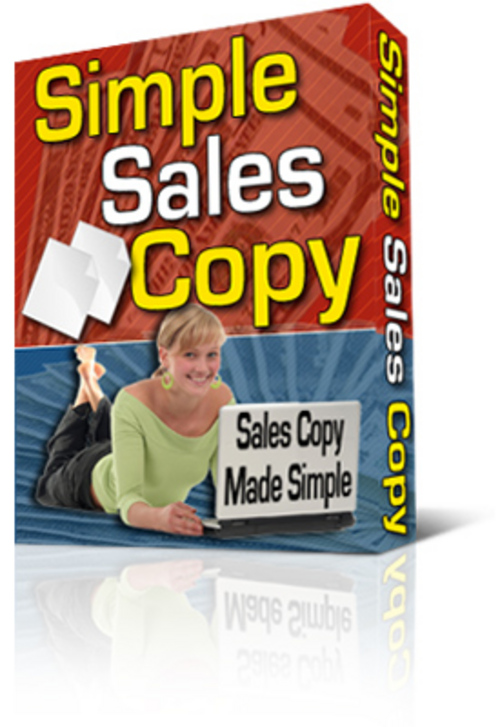 Product picture Simple Salescopy Tool - with Private Label Rights + BONUS!