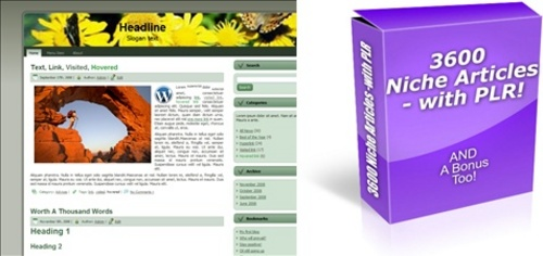 Product picture HOT PLR Pack - 3,600 Articles and 500 WordPress Themes!