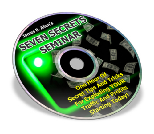 Product picture 7 Secrets Seminar - How to Explode Your Traffic and Profits!