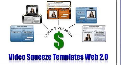 Product picture Web 2.0 Video Squeeze Page Templates - with PLR + BONUS!