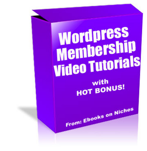 Product picture Wordpress Membership Site Video Course - with PLR + BONUS!