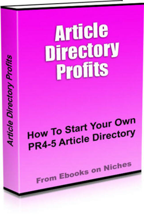 Product picture How To Start Your Own Article Directory With An Immediate PR4 or PR5
