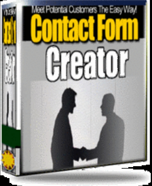 Product picture Contact Form Creator - with Master Resell Rights+2 BONUSES!
