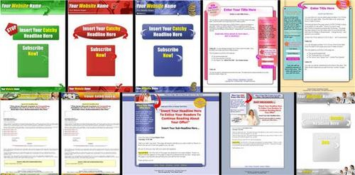 Product picture 18 Cool Squeeze Page Templates - with HOT BONUSES!