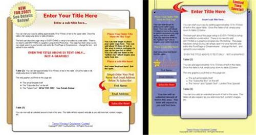 Product picture 2 Amazing Squeeze Page Templates - with FULL PLR+BONUS!