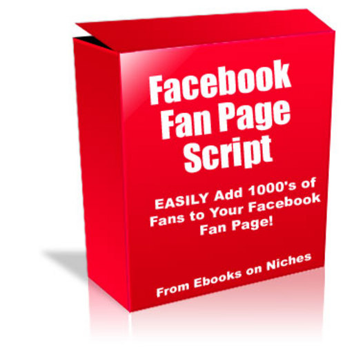 Product picture Facebook Fan Page Script -  with PLR+2 Mystery BONUSES!