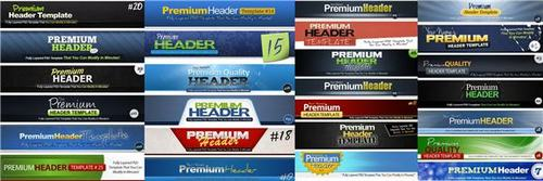 Product picture 25 Premium Headers Pack - with 2 Mystery BONUSES!