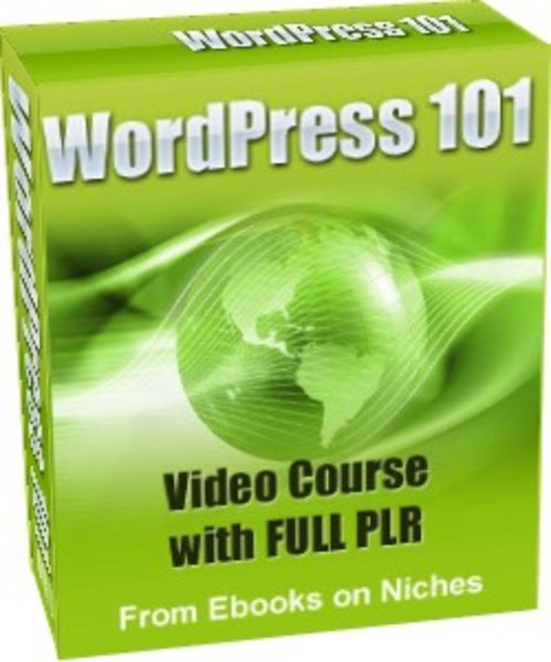 Product picture WordPress 101 Video Course - with PLR+2 BONUSES!