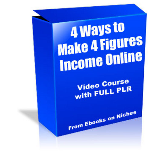 Product picture 4 Ways to Make 4 Figures - with FULL PLR + 2 BONUSES!