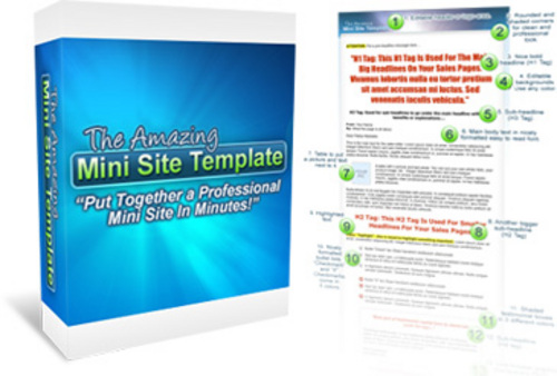 Product picture Amazing Mini Site Templates Pack-with 2 Mystery BONUSES!