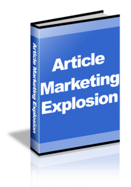 Product picture Article Marketing Explosion Video Course - MRR+3 BONUSES