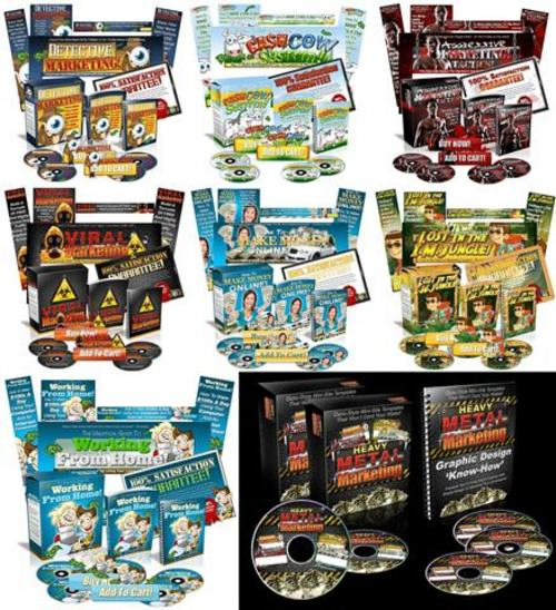 Product picture Heavy Metal Marketing - Minisite Graphics Pack with BONUSES!