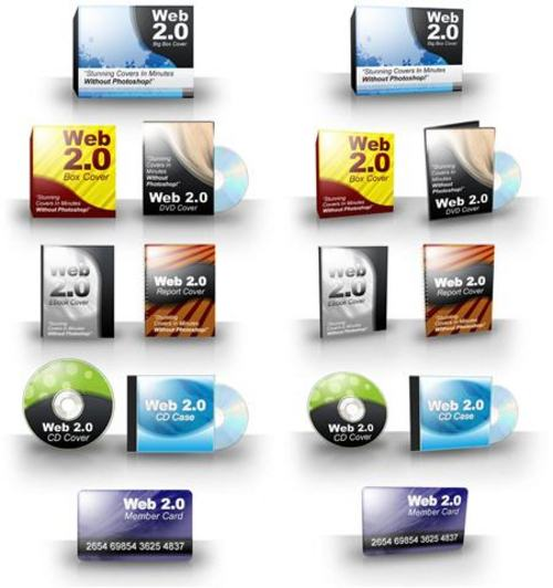 Product picture Web 2.0 Covers - Stunning E-Covers WITHOUT Photoshop+BONUSES