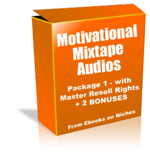 Product picture Motivational Mixtape Audios - Pack1 with MRR + 2 BONUSES!