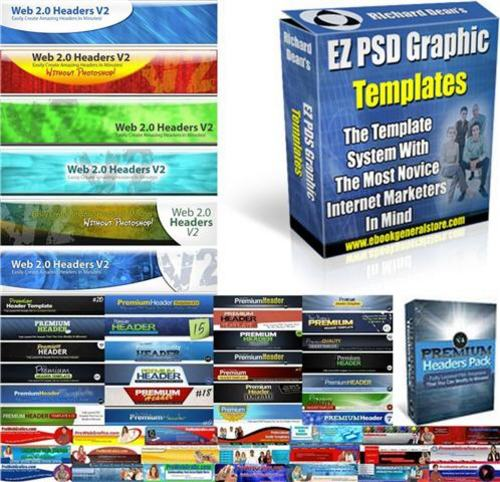 Product picture Ultimate Header Graphics Pack + 2 Mystery BONUSES!