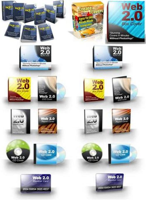 Product picture Ultimate E-cover Templates Pack + 2 Mystery BONUSES!
