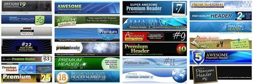 Product picture 25 Premium Headers Pack2 - with 2 Mystery BONUSES!