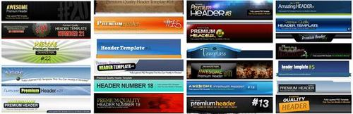 Product picture 25 Premium Headers Pack3 - with 2 Mystery BONUSES!