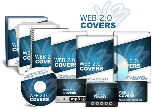Product picture Web 2.0 Covers V3 - Stunning E-Covers WITHOUT Photoshop!
