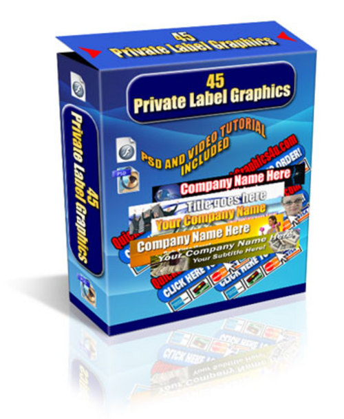 Product picture 45 Graphics and Templates - with PLR + 2 Mystery BONUSES!