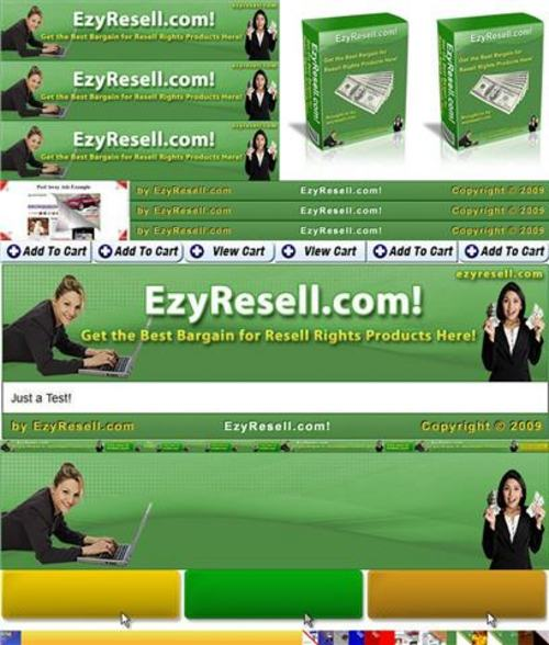 Product picture HUGE Website Graphics Package - with FULL PLR + 4 BONUSES!