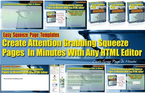 Product picture 28 *Above The Fold* Squeeze Page Templates - PLR + 2 BONUSES