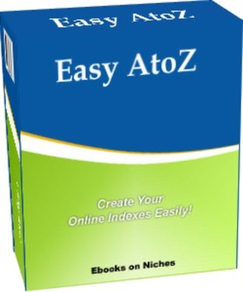 Product picture Easy AtoZ - Create Your Online Indexes Easily - with BONUSES