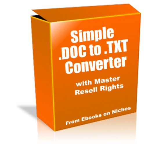 Product picture Simple .DOC to .TXT Converter - MRR + 2 Mystery BONUSES!