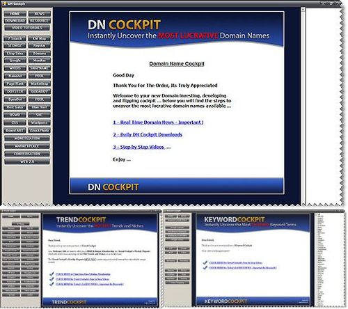 Product picture DN (Domain Name) Cockpit - with MRR + 2 Mystery BONUSES!