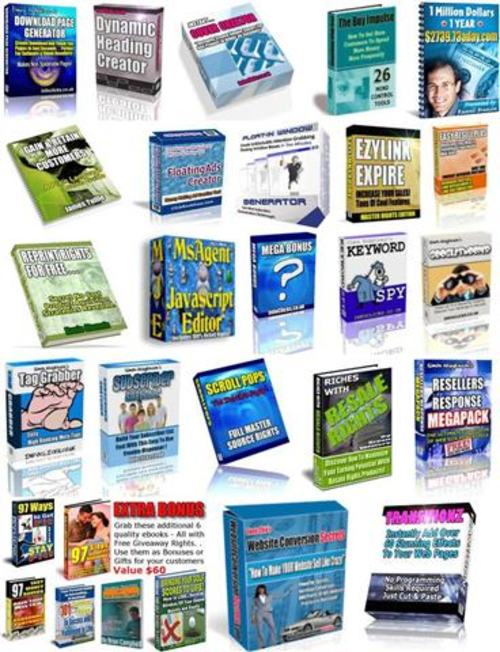 Product picture 16 HOT Ebooks and Softwares - with MRR + 2 Mystery BONUSES!