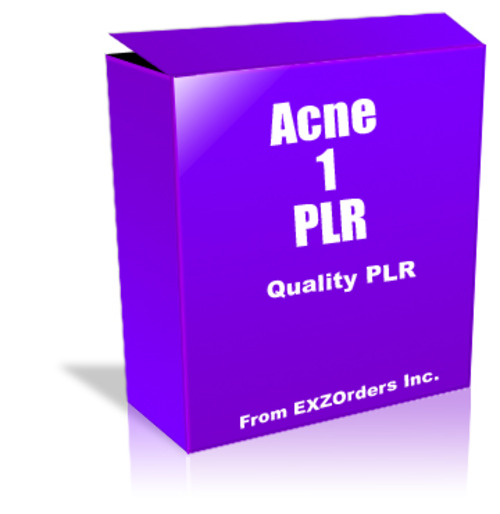Product picture Acne 1 PLR  10 Articles on Acne